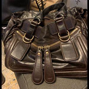 Dark brown chloe satchel purse